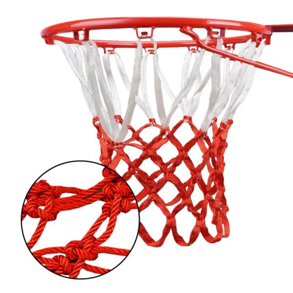Nylon Thread Sports Basketball Hoop Mesh Net Backboard Rim Ball White Red one size