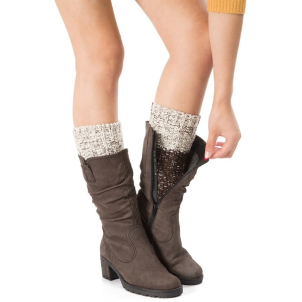 Patchwork Warm Leg Cover Lady Acrylic Knit Shoe Accessories