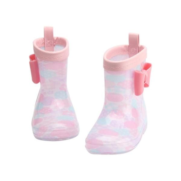 PVC-gummibarn Rainboots tecknade babyskor skor vattentäta