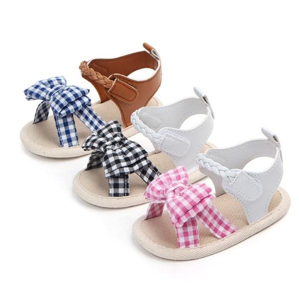 Sandals for Girls Baby Shoes Newborn Summer Cotton Lattice Shoe pink 13