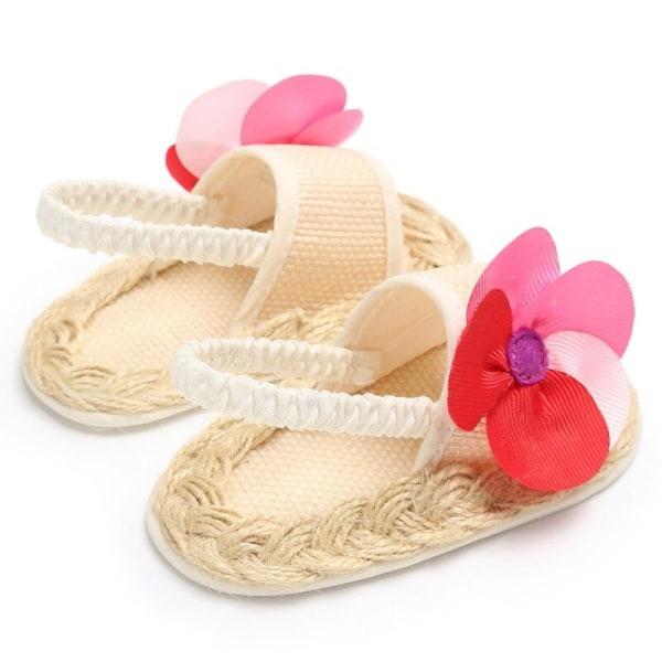 Sandaler för flickor Babyskor Nyfödda sommar bomullsgittersko