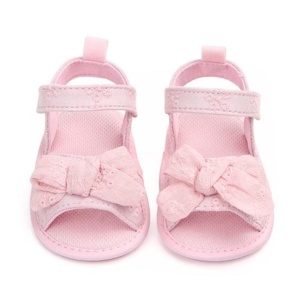 Sandaler Flickor Bomull Babyskor Mode Nyfödd Bow Baby Sandal