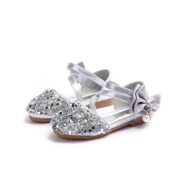 Sequin Bow Sandals Children Sandals Princess Sandals Shoes pink 22