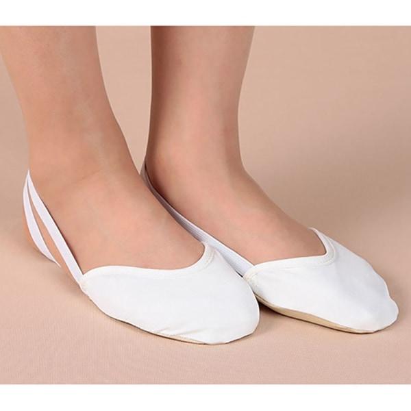 Soft Sole Ballet Pointe Dance Shoes Rhythmic Gymnastics Slippers beige 35