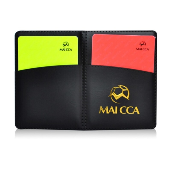 Sport Football Soccer Referee Wallet Notebook with Red Card a
