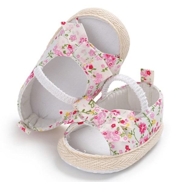 Sommar baby sandaler bomull andas blommigt tryck barn skor