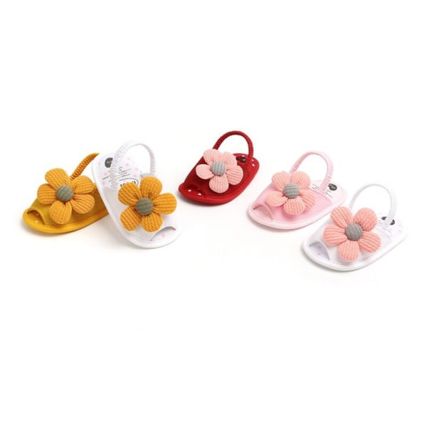 Summer Boys Girls Sandals Cute Flower Breathable Anti-Slip Shoe pink 13-18 months