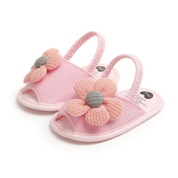 Summer Boys Girls Sandals Cute Flower Breathable Anti-Slip Shoe pink 7-12 months
