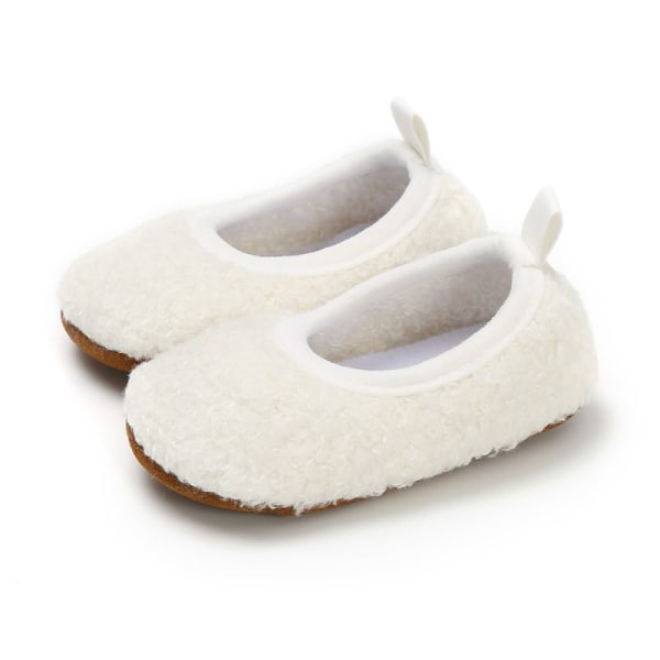 Toddler Girl Snow Boots Shoes Winter Cotton Warm Soft Sole Plush white 13-18 months