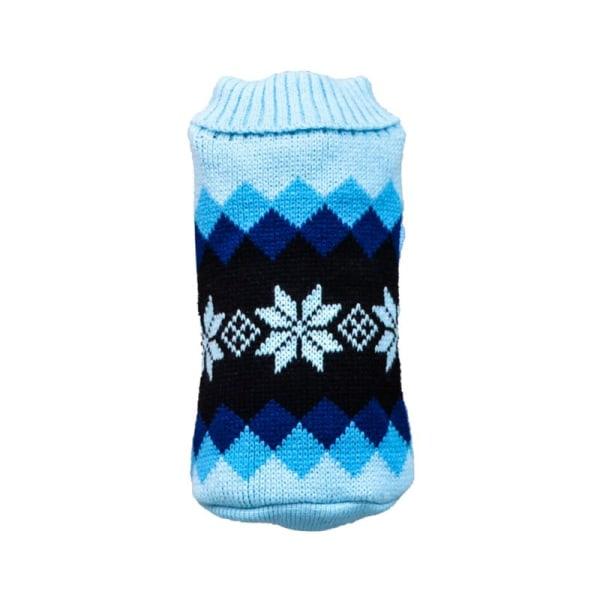Varma hundtröjor Snow Plaid Dog Puppy Sweater Jumper Coat