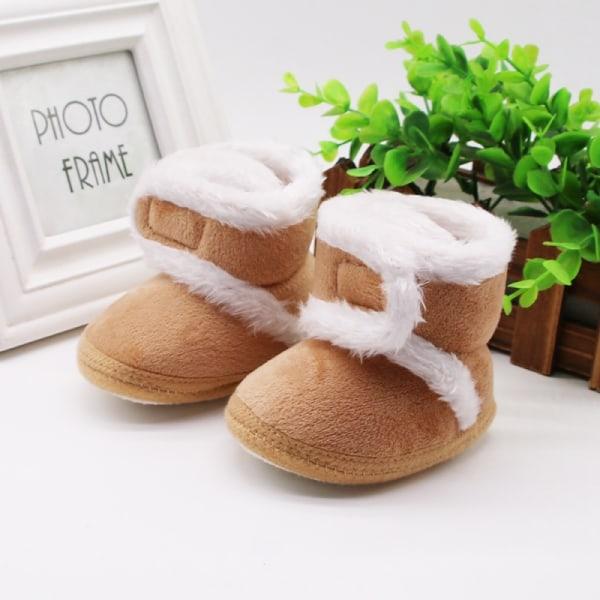 Warm Newborn Toddler Boots Winter First Walkers coffee 0-6 months