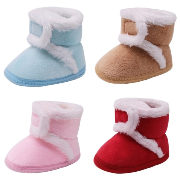 Warm Newborn Toddler Boots Winter First Walkers coffee 12-18 months