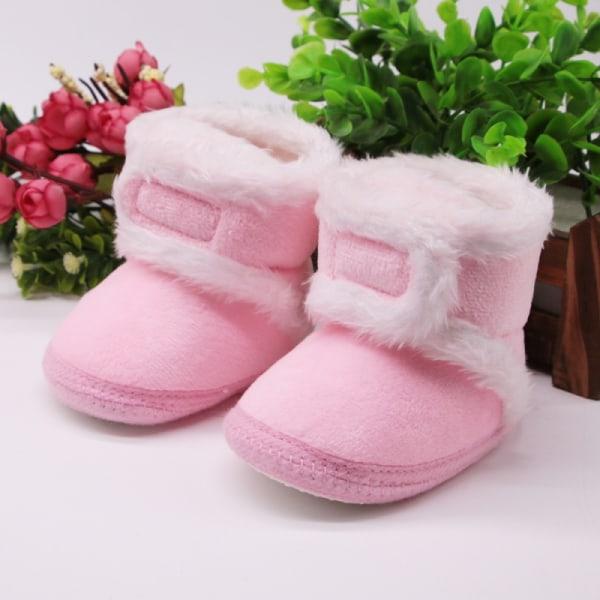 Warm Newborn Toddler Boots Winter First Walkers pink 6-12 months