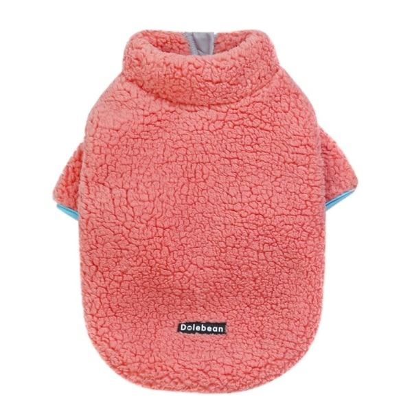 Varma husdjur kläder söta avslappnade rockar med hög krage vinter