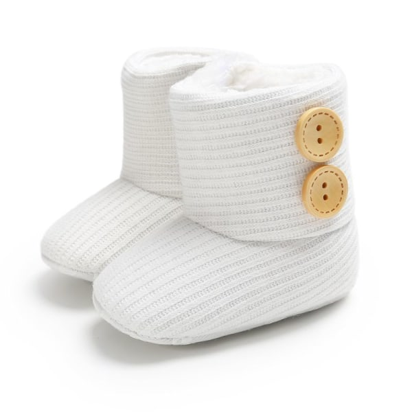 Winter Warm Fur Newborn Baby Boots Winter Infant Girls Shoes white 13-18 months