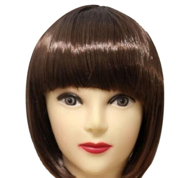 Kvinnor kort BIR hår peruk raka lugg Party Stage Show