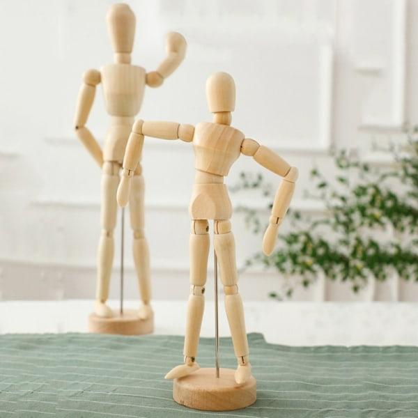 Träkonstmodellprydnader Hem Vardagsrum Skrivbordsdekorationer