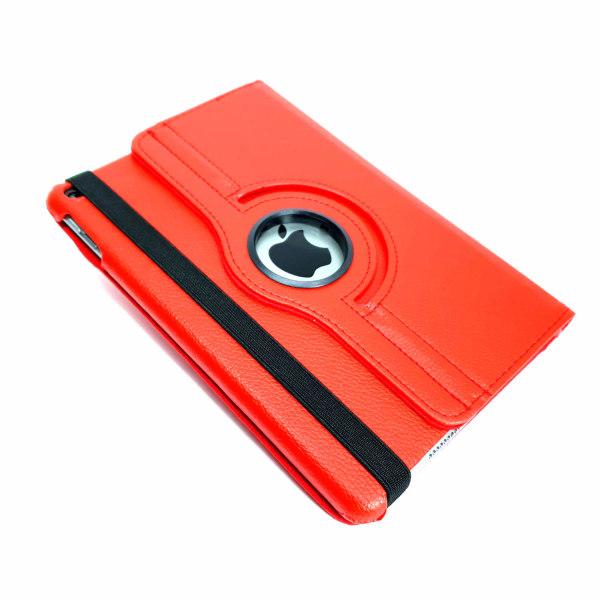 Röd Läderfodral 360° ställ till iPad Mini 5 (2019)