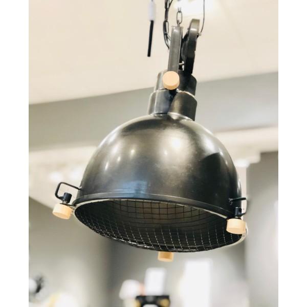 Industrilampa taklampa metall mattsvart Black