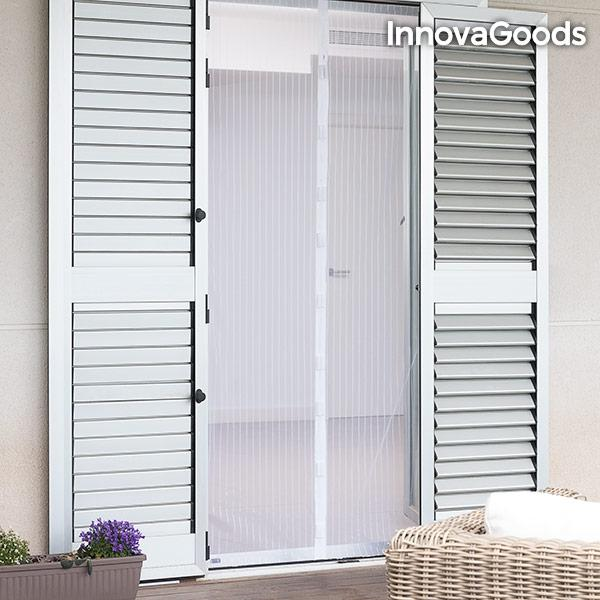 Insektsnät dörr 100x220 insektsskydd vitt magnet myggnät Vit