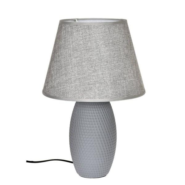 Lampa bord grå keramik H39 cm grå
