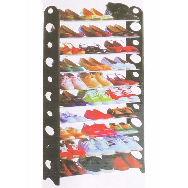 Skoställ 30 par skor H156 cm skoförvaring multifärg