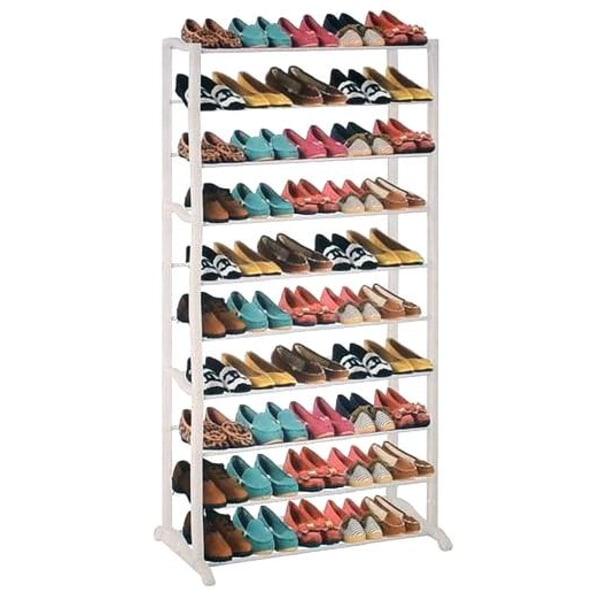 Skoställ 50 par skor metall multifärg
