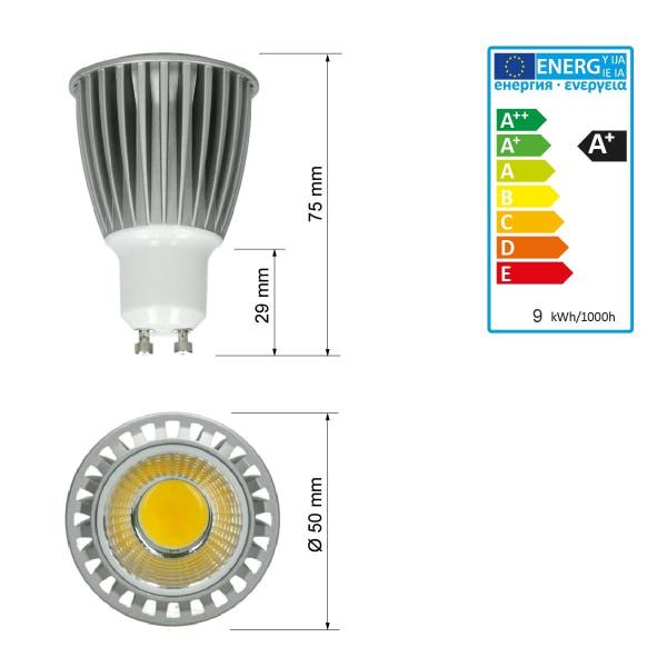 6x LED COB GU10 Spot lampan spotlight Infälld spotlight kall Vit
