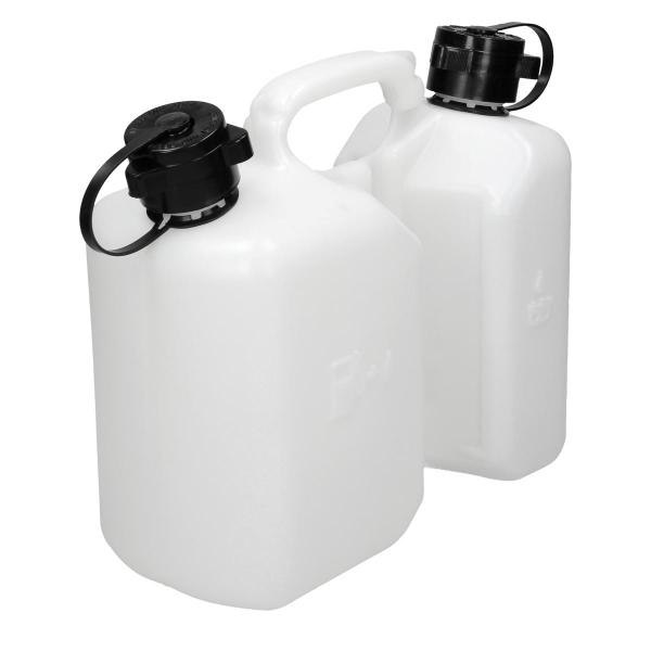 Dubbel kanister Combi kapseln kan av bensin och olja 3L 1.5L för