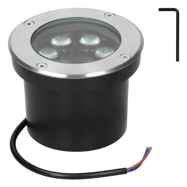 ECD Germany-paket med 10 LED-infällda golvlampor 5W - varmvit