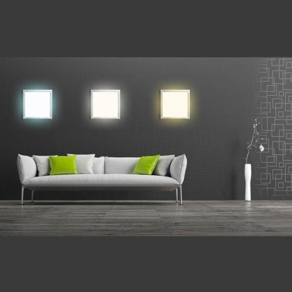 ECD Tyskland 10-pack Ultra tunn LED-paneler 36W 60 x 60 cm 3014 k