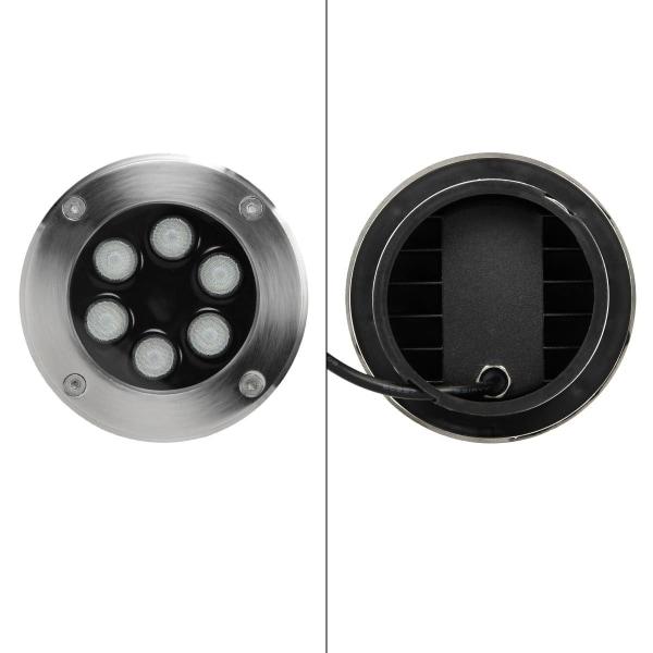 ECD Germany-paket med 8 LED-infällda golvstrålkastare 5W -