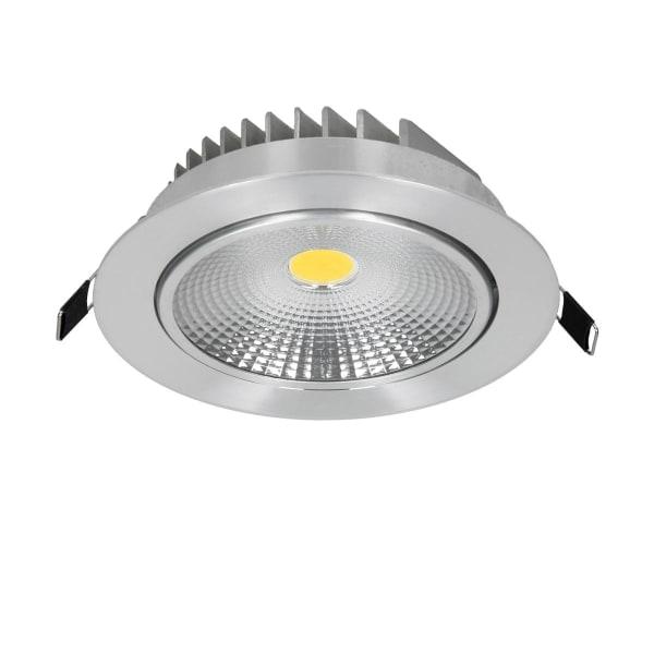 ECD Germany 8-Pack LED infälld ljus COB 12W 230V - silver -