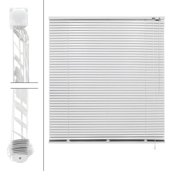 ECD Germany aluminium persienner 120 x 130 cm - Vit - Vit