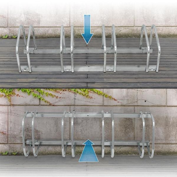 ECD Germany cykelställ för 4 cyklar 100x32x27 cm av galvaniserat