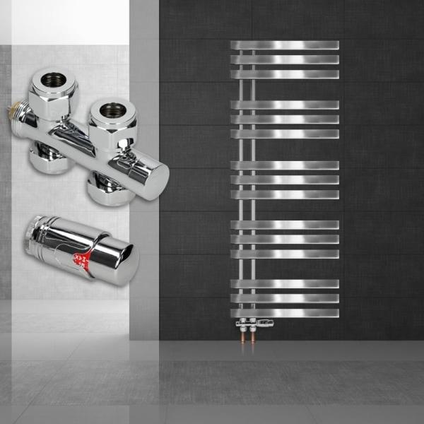 ECD Germany Design Handduk Iron EM - 500 x 1600 mm - Chrome -