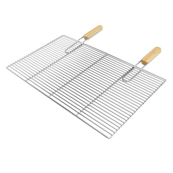 Grill grill rostfritt stål galler med avtagbara handtag 67 x 40
