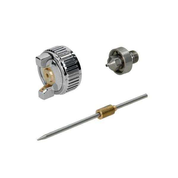 Mini sprutpistol HVLP rostfritt stål munstycke 0,8 mm + 0,5 mm +