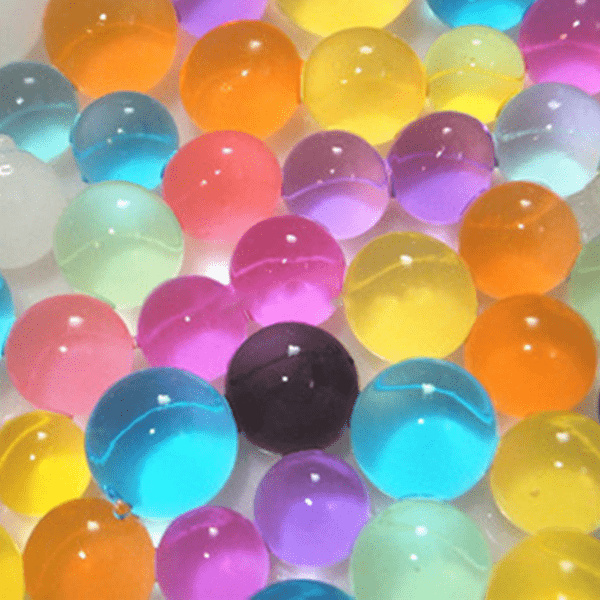 5000 förp Vatten kristaller 5 färger 0,8-1 cm flerfärgad