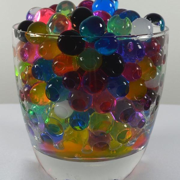 5000 förp Vatten kristaller 5 färger 0,8-1 cm
