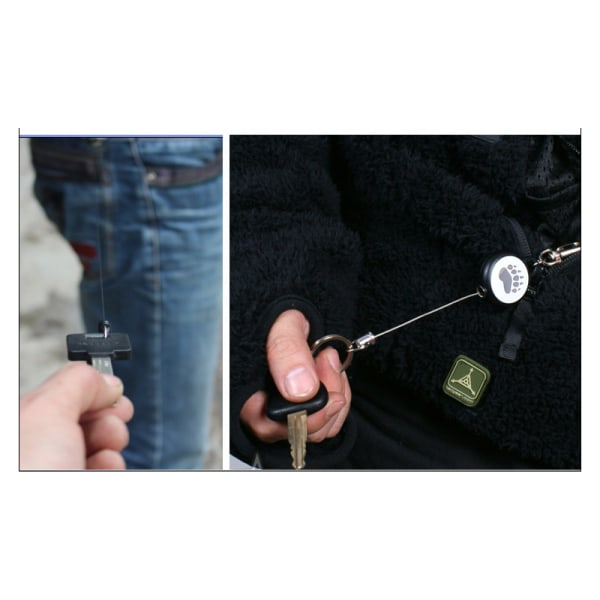 60 cm förlängbar metalltråd nyckelring