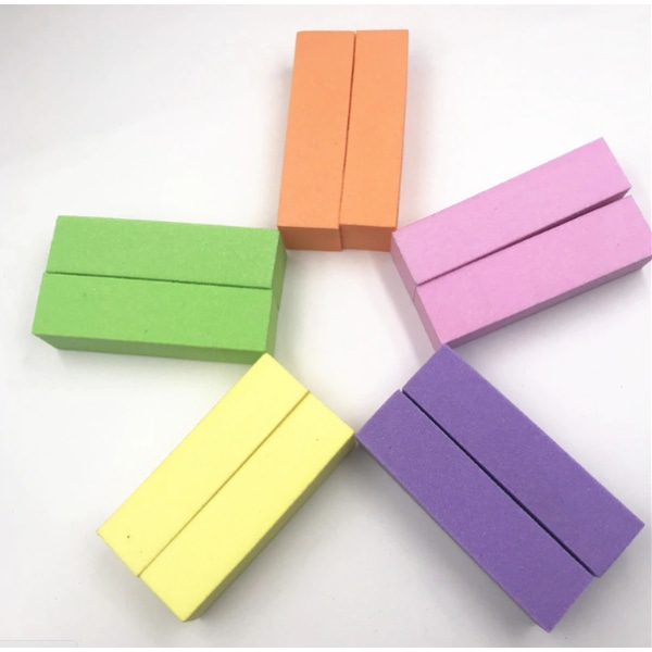 Bufferfil Nail Art 4-pack - Välj mellan olika färger gul
