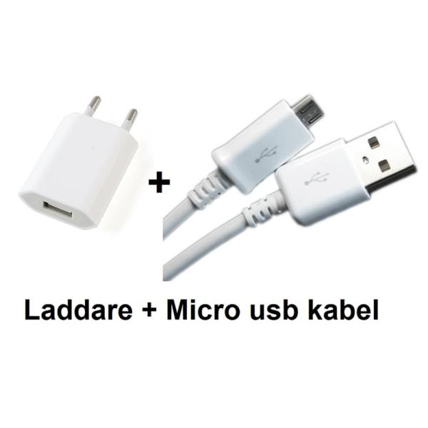 Micro USB-laddare universal med kabel- olika färger lila