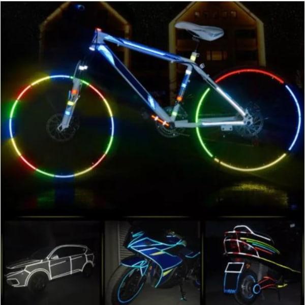 Reflextejp 8m |  Perfekt till cykel, motorcykel, barnvagn Vit