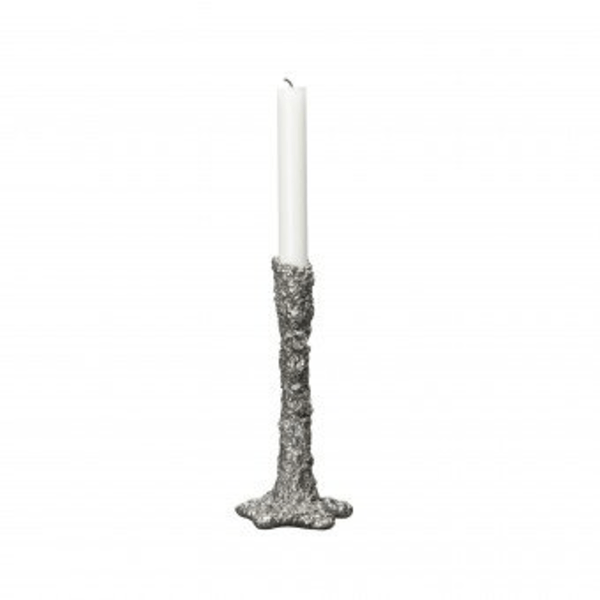By ON Candle holder Space Silver 20 cm