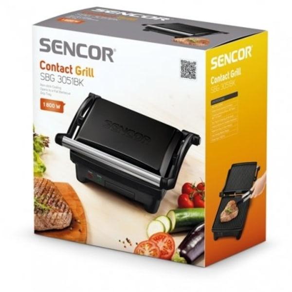 Sencor Smörgåsgrill/kontaktgrill 3 lägen, svart Svart