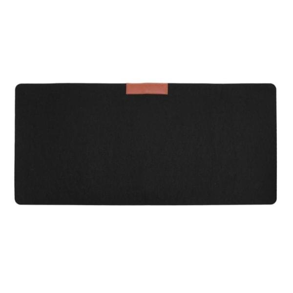 Skrivbordsunderlägg / Musmatta i filt 70 x 33 cm - Olika färger Svart