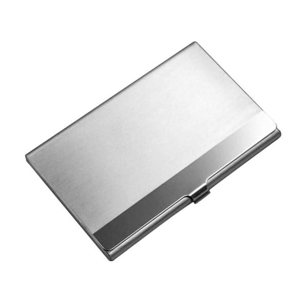 """Slimmad korthållare i rostfritt stål """"Horizon"""" - Silver"""
