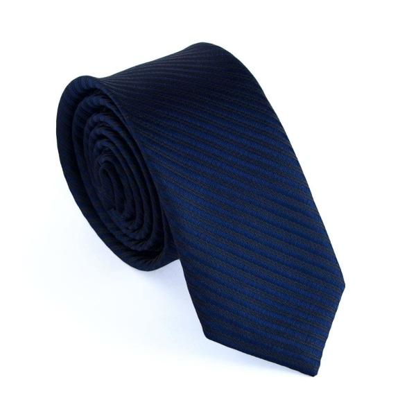 """Smal slips mörkblå m tunna ränder """"Everett"""" Blå"""
