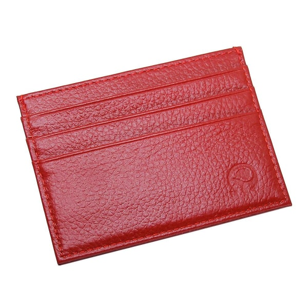 Smidig korthållare i konstläder - Olika färger Röd